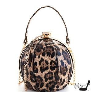 Ball Leopard Handbag